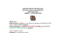 Libros de texto francés 2021-2022 bis