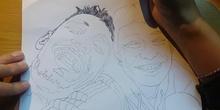 Line portrait - Retrato a línea