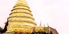 Complejo religioso totalmente dorado, Chiang Mai, Tailandia