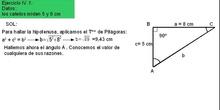 Trigonometría: 51. Ejemplo resolución triángulos 4