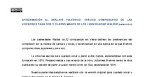 APROXIMACIÓN AL ANÁLISIS PIANÍSTICO: ESTUDIO COMPARATIVO DE LAS VERSIONES PARA DOS Y CUATRO MANOS DE LOS LIEBESLIEDER WALZER (selección)