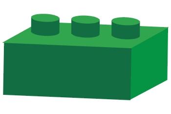 Pieza de arquitectura verde