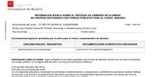 INFORMACIÓN BÁSICA SOBRE EL PROCESO DE ADMISIÓN DE ALUMNOS EN CENTROS SOSTENIDOS CON FONDOS PÚBLICOS PARA EL CURSO 2020/2021
