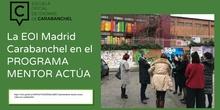 EOI Carabanchel presentación final Programa Mentor Actúa curso 2019-2020