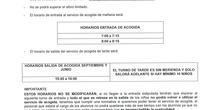 INFORMACION ACOGIDA MAÑANA Y TARDE