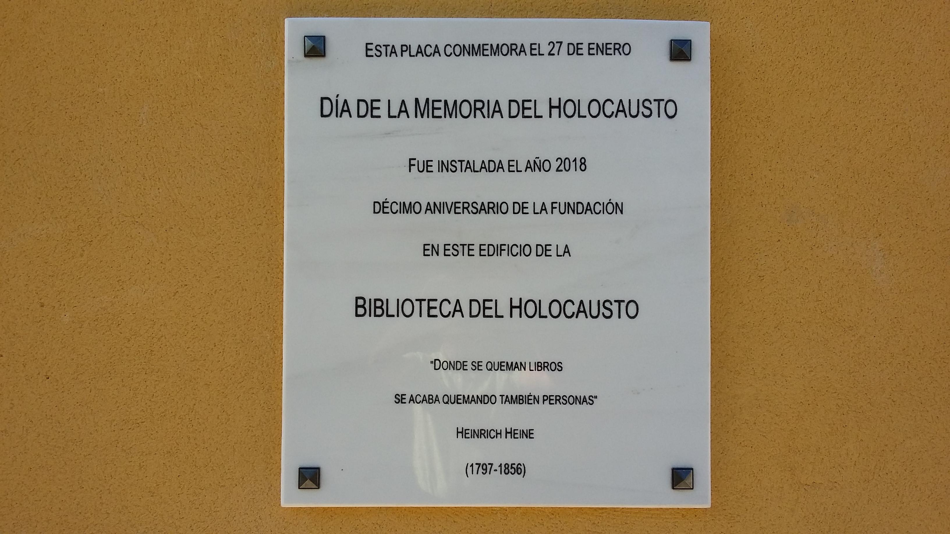 Día de la Memoria del Holocausto