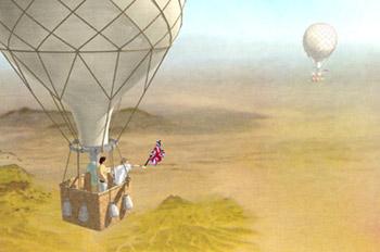 Cinco semanas en globo: Espejismo sobre el desierto