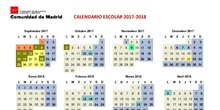 Calendario escolar Comunidad Madrid 2017/18