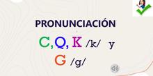 "Pronunciación fonemas K y G<span class=""educational"" title=""Contenido educativo""><span class=""sr-av""> - Contenido educativo</span></span>"