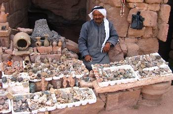 Vendedor de recuerdos, Petra, Jordania