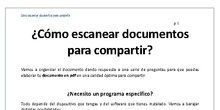 ¿Cómo escanear documentos para compartir?