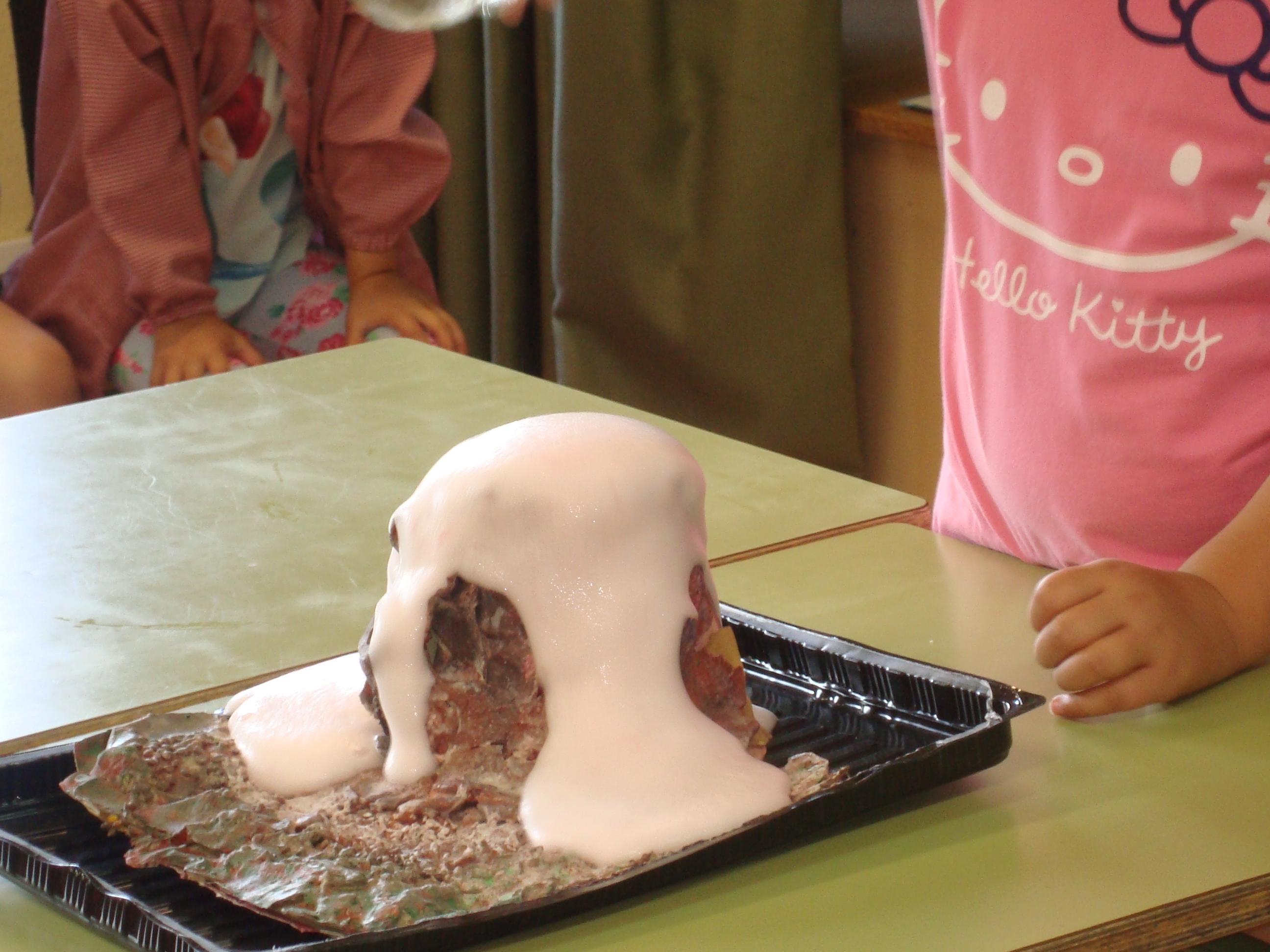La erupción de un volcán.