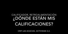 CALIFICACIONES PARA LOS ESTUDIANTES DEL AULA VIRTUAL
