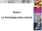 Tema 1 - Psicología Bachillerato