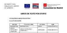 Libros de texto - ESO - Curso 2021-22