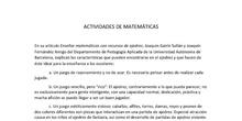 Seminario ajedrez Actividades matemáticas