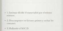 PRIMARIA - 6º - REDUCIR FRACCIONES - MATEMÁTICAS