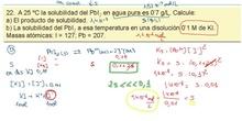 Cálculo de la solubilidad  con efecto de ion común
