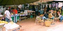 Mercado abierto en Vientiane, Laos