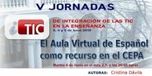 """Ponencia de Dª.Mª Luisa Sánchez: """"El aula virtual de Español como recurso en el CEPA"""""""