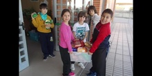 Colaboración solidaria de las familias del ceip Ágora de Brunete