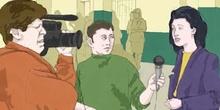 Reporteros de televisión