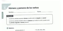 NÚMERO Y PERSONA DE LOS VERBOS