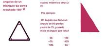 PRIMARIA 6º - MATEMÁTICAS - SUMA DE LOS ÁNGULOS DE UN TRIÁNGULO