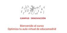 Bienvenida al curso. Optimiza tu aula virtual.