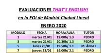 Evaluación That's English enero 2020