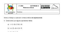 Actividades Grupos Interactivos IES El Carrascal Matemáticas 1ºNúmeros Enteros