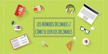 LOS DECIMALES 2. CÓMO SE LEEN LOS NÚMEROS DECIMALES