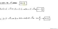 Ecuaciones de grado 1
