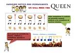 """Audición activa con percusiones - """"We will rock you"""""""