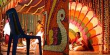 Escenario para la celebración de una boda hindú