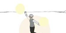 Cap. XXI. Don Quijote con una bacía en la cabeza a modo de yelmo