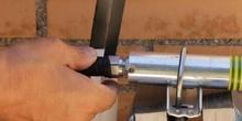 Conectorizado de antena colineal y protección con cinta vulcanizada
