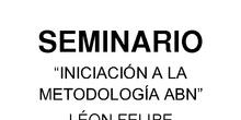 """SEMINARIO """"INICIACIÓN A LA METODOLOGÍA ABN EN EDUCACIÓN INFANTIL"""""""