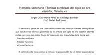 La técnica pictorica de Velazquez: teoría y práxis