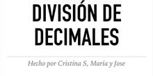 PRIMARIA- 6º-DIVISIÓN DE DECIMALES - MATEMATICAS - PEPE, MARÍA Y CRISTINA - FORMACIÓN