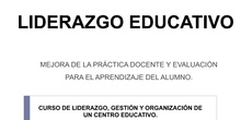 LIDERAZGO EDUCATIVO.
