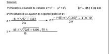 Álgebra: 15.Bicuadradas