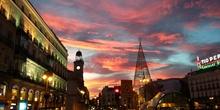 Atardecer en Madrid (Puerta del Sol)