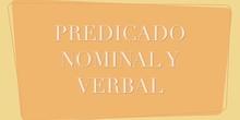 PREDICADO NOMINAL Y VERBAL