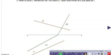 Hallar intersección de recta con plano
