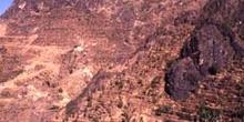 Vista de Shahara, en la cumbre de la montaña, Yemen