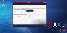 MAX 10.0 - Descripción de la pantalla de Bienvenida