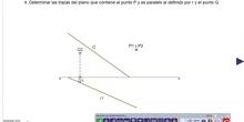 Planos que contiene a P y es paralelo a otro definido por punto y recta