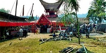 Organización de los fastos para un funeral, cultura Toraja, Sula