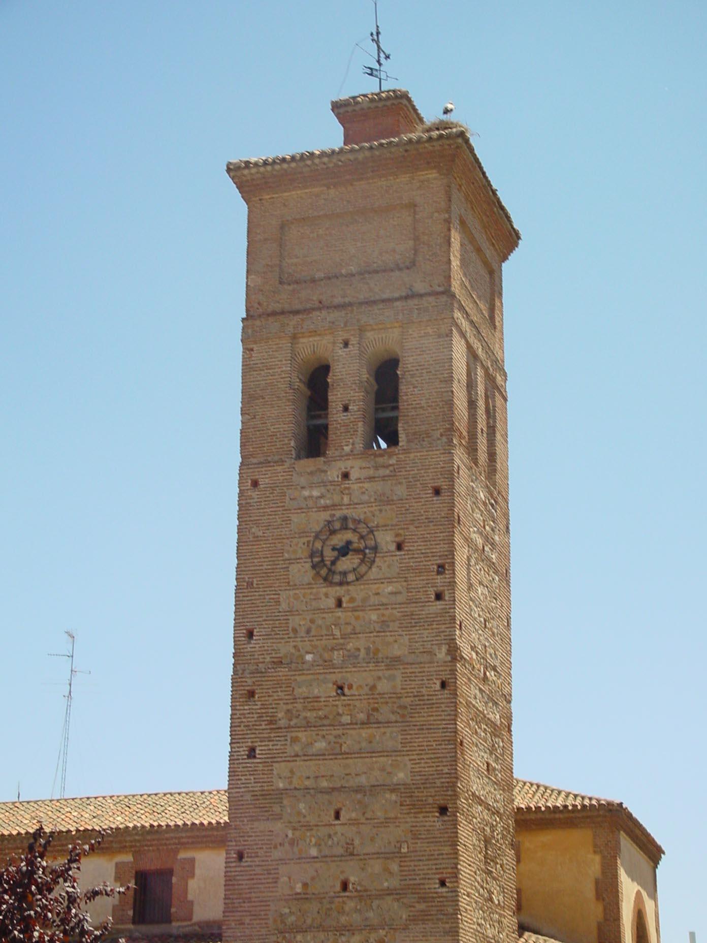 Detalle campanario de Nuestra Señora de la Asunción en Móstoles